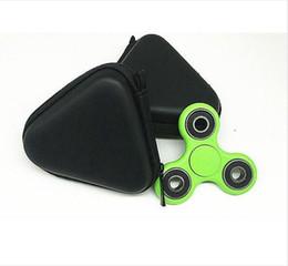Pocket Triangle Case Auriculares Auriculares Tarjeta SD Fidget Hand Spinner Bag Holder Almacenamiento color negro nuevo desde fabricantes