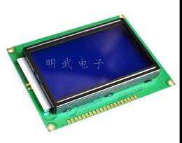 Wholesale Lcd Graphic Display Modules - Wholesale- 1pcs LCD12864 128x64 Dots Graphic Blue Color Backlight LCD Display Module raspberry PI