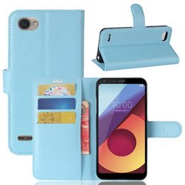 Wholesale Phone Colorful Skins - Colorful Litchi Wallet Leather Case For LG Q6 Plus MOTO E4 US VIVO X9S Plus Pouch Leechee Folio Card Stand Phone Skin Cover Luxury 50pcs