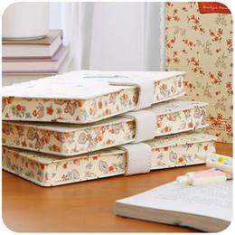 Wholesale Diary Agenda - Wholesale- Fresh Notebook Stationery Creative Literature Magnetic Lever Notepad Floral Lace Japan Korea Handbook agenda 2017 diary caderno