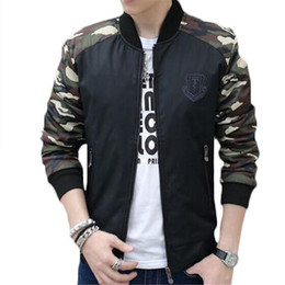 Wholesale Panda Coats - Wholesale- FIVE PANDA 2016 Army Green Jacket Men Camouflage Bomber Jacket Casual Brand Clothing Plus Size 4XL Coats ZMF789562