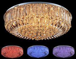 Wholesale Crystal Art Deco Ceiling Lights - Modern K9 Crystal LED Chandelier Ceiling Light Pendant Lamp Lighting 50cm 60cm 80cm pendant lamp home decoration
