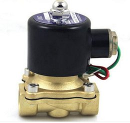 """Wholesale Brass Valve Oil - Brass valve body 2 way DN40 solenoid valve Free shipping high quality 1-1 4"""" Electric Solenoid Valve Water Air Oil N C DC 12V"""