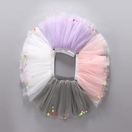 Wholesale Multi Color Baby Yarn - Baby Girls TUTU Skirts Summer Colorful Ball Net Yarn Pettiskirt for Kids Children Short Party Dance Skirt LC459
