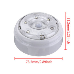 Wholesale Detector Infrared - Wholesale- High Quality 6 LED Wireless Infrared PIR Auto Sensor Motion Detector Battery Powered Door Wall Light Lamp