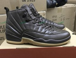 Wholesale Mens Winter Boots Size 12 - 2017 New Air Retro 12 XII Chocolate Basketball Shoes For Men,High Quality Mens Retros 12s Sports Sneakers Trainers Shoe Size 8-13
