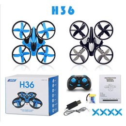 Wholesale Mini Toy Helicopters - JJRC H36 Mini Drone 2.4Ghz 4CH 6-Axis GYRO RC Quadcopter Headless LED Mode One Key Return Helicopter WX-T100