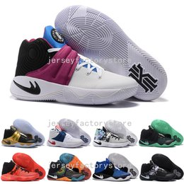 Wholesale Satin Silk Cushions - (With Box) New Arrival Kyrie Irving 2 Signature Game Basketball Shoes for Men Top quality Mens Kyrie 2s Air Cushion Sports Training Sneakers