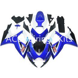 Wholesale Decal Suzuki - 3 free gifts New Suzuki GSXR600 GSXR750 K6 06 07 GSXR600 GSXR750 K6 2006 2007 ABS Plastic Motorcycle Fairing Decal blue style