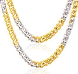 Wholesale Two Tone Gold Necklace Men - Beichong Two Tone Gold Color Chain For Men Women Jewelry 4.5MM Stainless Steel Figaro Chain Necklace Men Tank Chain Wholesale