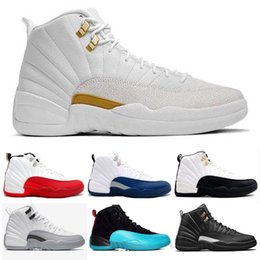 Wholesale Fast Master - Basketball Shoes Retro 12 Blue Suede Wool The Master Gym Sneakers Sports Shoes Retro XII Tranining Shoes Athletic Taxi Boot Fast Shipping