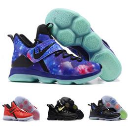 Wholesale Cheap Size 14 Basketball Shoes - 2017 New Arrival James 14s Rio Luminous Coast Men Kids Women Basketball Shoes for Cheap Sale 14 XIIII Sports Training Sneakers Size 36-46
