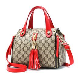 Wholesale Leather Bag Ladies Tassel Totes - WERAIMJX Brand New Designer Women Bags Handbag High Quality Leather Tassel Female Shoulder Messenger Bags Fashion Ladies Bags SJ201