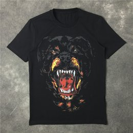 Wholesale Designer Shirts For Women - Wholesale-2016 high quality new fashion Rottweiler dog print famous luxury brand given tee t shirts for men women cotton designer t shirts