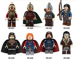 Wholesale Super Lord - DHL 60Set Super Heroes Lord of the Rings The Hobbit Los Khan Sold figures Medieval Castle Boromir Kids Christmas Toys PG8031