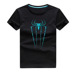 Wholesale Bat Sleeve Girls Shirt - 2017 Summer Brand New Girls Boys T-shirts High quality soft and comfortable cotton Children short Sleeve Tops Kids Luminous spider bat Hero