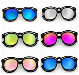 neonati da tavoletta Sconti Occhiali da sole Occhiali da sole Occhiali da sole Full Frame Occhiali da sole colorati per bambini Occhiali da sole anti-ultravioletti 12 colori C2621