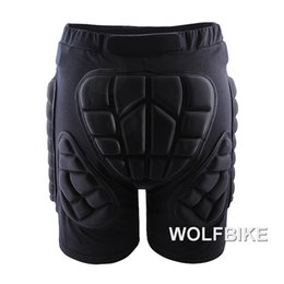 Wholesale Padded Bottom - Wholesale- WOSAWE Winter Sports Skiing Shorts Protective Hip Butt Bottom Padded Amour for Ski Snow Skate Snowboard Pants Protection