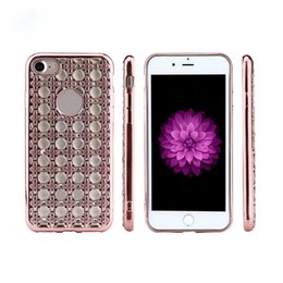 Wholesale Diamond Case For Blackberry - Diamond Phone Cases For iphone 6 6s 7 Plus Silicone Covers Gold Bling Glitter Plating Soft TPU Back Cover S8 S8plus