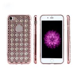 Wholesale Diamond Case For Blackberry - Ultra-thin Hybrid Diamond Plating Soft TPU Back Cover For iPhone 8G 7plus 6sPlus Case S6 S7 Edge S8plus Shockproof Case