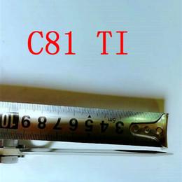 Wholesale Tc4 Titanium Alloy - C81 Paramilitary 2 back lock Titanium