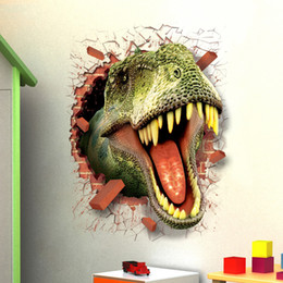 Wholesale Plane Manufacturer - The new 3D stickers 3D stickers dinosaur wall stickers wholesale wall manufacturers
