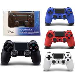 Wholesale Force Feedback Games - PS4 Wireless Game Controller for PlayStation 4 PS4 Game Controller Gamepad Joystick Joypad for Video Games With Retail Package