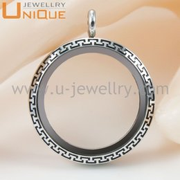 Wholesale Memory Wire Stainless - 30mm wire chock locket necklace 316L stainless steel etching pendant memory locket