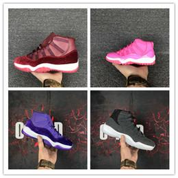 Wholesale Ladies White Flat Shoes - High Quality Retro 11 Basketball Shoes Women 11s Retro 4 6 7 12 Retro 12 Pink Lady Athletics Sneakers