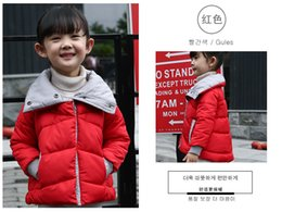 Wholesale Korean Style Jackets For Girls - baby winter down coat 4 designs candy color korean style cotton down jacket for kids girl winter warm outwear baby clothes retail 2017 hot