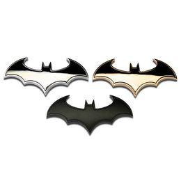 Wholesale Batman Motorcycle - High quality 3D metal bat logo car stickers batman badge emblem car styling tail decal auto motorcycle accessories decoraiton
