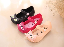 Wholesale Candy Graphics - Baby sandals summer girl jelly candy princess shoes cute animal graphics hole cool drag stars with the same shoes
