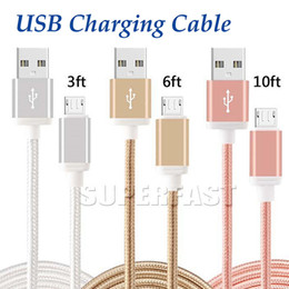 Wholesale Packaging Cord - USB Charging Cable Fabric Braided 56K Ohm Resistor Cooper Data Sync Mirco USB High Speed Charging Cable Type C Cord for Galaxy S8 No Package