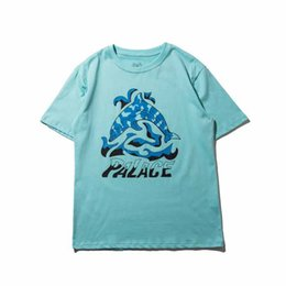 Wholesale Shirts Fish Prints - 2017 NEW Fasion Summer SKETCHY DOLPHIN Fish TRI CRIB Palace Skateboards Men T-Shirt Tees Hip Hop Streetwear Crew Neck