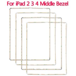 Wholesale Ipad Middle Frame - Wholesale LCD Middle Frame For ipad 2 3 4 Touch Screen Digitizer Middle Bezel With Sticker Adhesive