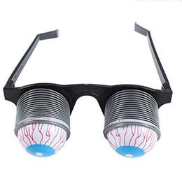 Wholesale Eyeball Glasses - DHL Prank Joke Toy Funny Horror Pop Out Eyes Glasses Dropping Eyeball Glasses for Halloween Costume Parties Joke Gift Pop Out Eye Glasses