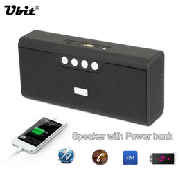 Wholesale Radio Horn Speakers - Ubit 5W*2 Horns Bluetooth Speaker B23 Portable Radio Speakers Wireless Speaker Portable Audio MP3 With Power Bank For Phone