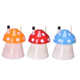Wholesale Portable Toothpick Holder - Wholesale- 2016 New Automatic Toothpick Holder Pocket Fashion Small Portable Mushroom Shaped Creative Toothpick Box Color Random