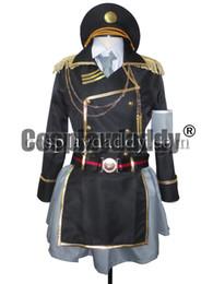 Wholesale Military Dress Xxl - Anime K Project Neko Spoon Military Uniform Suit Dress Cosplay Costume