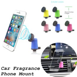 Wholesale Perfume Holder Wholesale - Fragrant Car Holder Perfume Magnetic Mobile Phone Holder Stand Auto Air Vent Mount Aroma Magnet Bracket For iPhone 7 6 Samsung