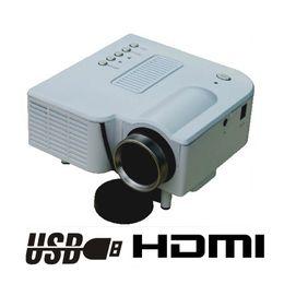 Wholesale Portable Mini Projector Cheapest - Wholesale-New CPAM cheapest portable handheld pocket Mini led Projector HDMI VGA AV USB SD with remote control video game projector