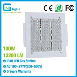 Wholesale Fixture Canopy - 100W LED Workshop Lights Parking Garage Gas Station Retrofit Light SMD3030 IP65 Outdoor High Bay  Low Bay Canopy Fixture