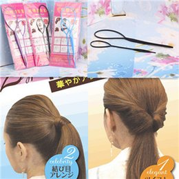 Wholesale hair functions - 2pcs=1set Lady Magic Hair Styling Multi Function Hair Accessories Tools Care Pattern Plate Portable Pull Hair Styling Pins