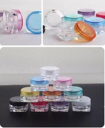 Wholesale Clear Decals - Free Shipping 4000pcs 5g mixed color 5G Cream Jars, Screw Caps,Clear Plastic Makeup Sub-bottling,Empty Cosmetic Container,Small Sample Mask