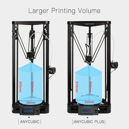 Wholesale 3d printer pulley - Anycubic 3D Printer Pulley Version Linear Guide rail plus DIY Kit Linear Delta Large Printing Size 3D Metal Printer