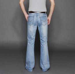 pantalon de finition en gros Promotion En gros-2016 nouvelle arrivée 2016 marque hommes évasée jeans hommes bas denim mâle corne corne évasé jean pantalon 28-36 ne pas se fanent MB16238