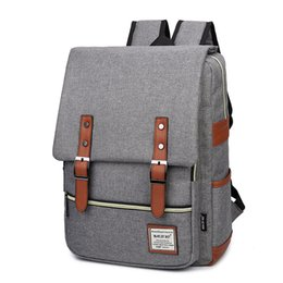 Wholesale Large Backpacks Women - New personality retro men and women outdoor canvas large travel sports designer backpacks for men fashion shoulder bag wholesale