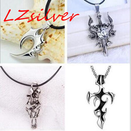 Wholesale Skull Sweater Necklace - MIC 11pcs Europe and the United States Skull & flame stainless steel Pendant necklace Male Sweater chain Small ornaments 11-style