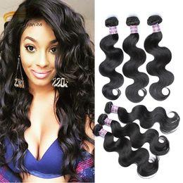 Wholesale Discount Virgin Hair Unprocessed - Alimina Hair Cheap Indian Virgin Hair Mink 100% Unprocessed 3 Bundles Different Length $100 To Get $20 Discount Body Wave Different Origin