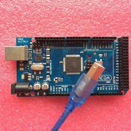 Wholesale Arduino Usb Cable - Freeshipping Arduino Mega 2560 R3 Mega2560 REV3 ATmega2560-16AU ATMEGA16U2-MU Board with Compatible USB Cable